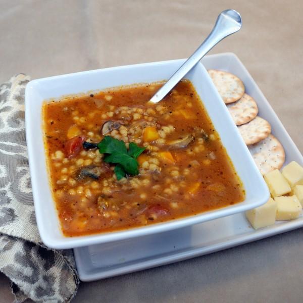 Mushroom Beef Barley Soup