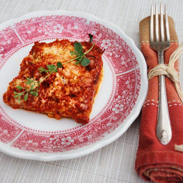 """Zucchini """"Lasagne"""" With Tomato Sauce"""