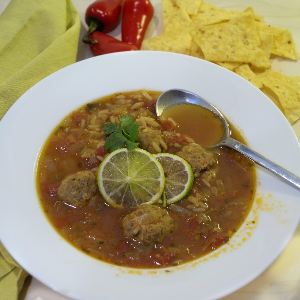 Mexican Meatball Soup