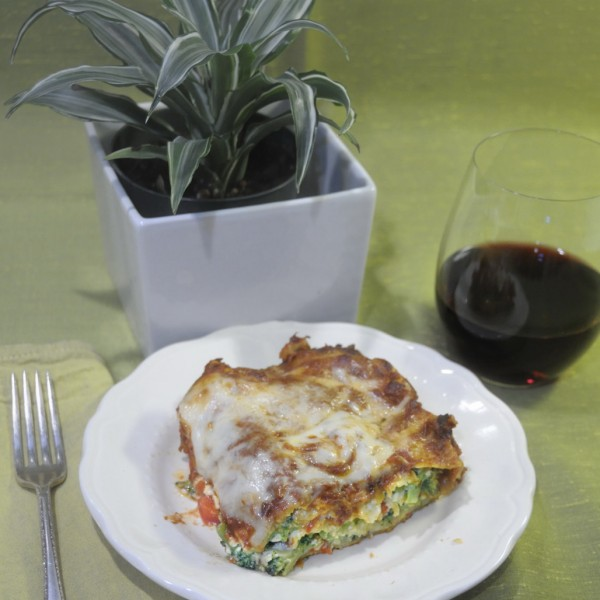 Red, White And Green Lasagne