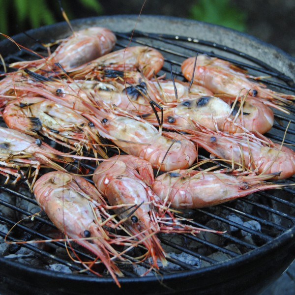 Spot Prawns With Two Dips