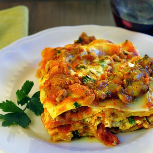 Lasagne With Turkey Bolognese Sauce