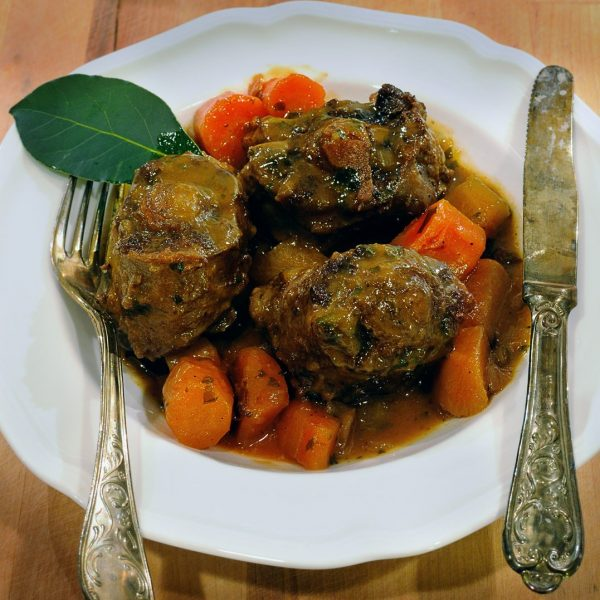 Red Wine Braised Oxtails