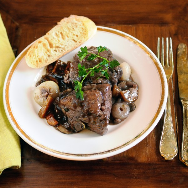 Coq au Vin – Chicken Braised in Red Wine